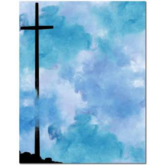 Tall Cross Letterhead - 25 pack