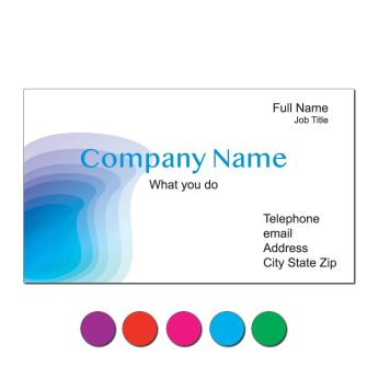 Colorful Topographic Custom Business Cards