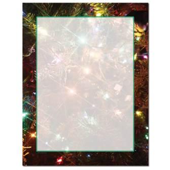 Tree Lights Letterhead - 100 pack