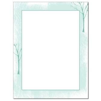 Tree Silhouettes Letterhead - 100 pack