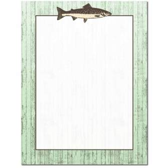 Trophy Trout Letterhead - 25 pack