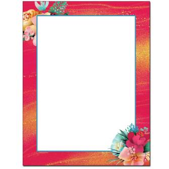 Tropical Flowers Letterhead
