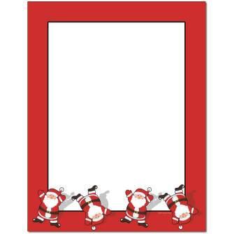 Tumbling Santa Letterhead - 25 pack