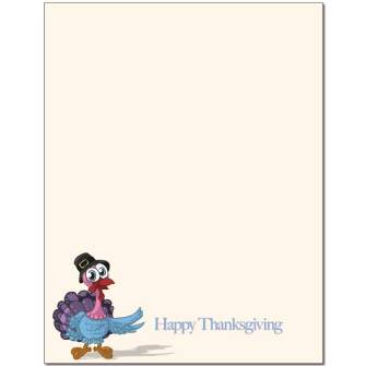 Turkey Day Letterhead - 100 pack
