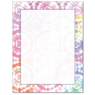Tye Dye Letterhead - 25 pack