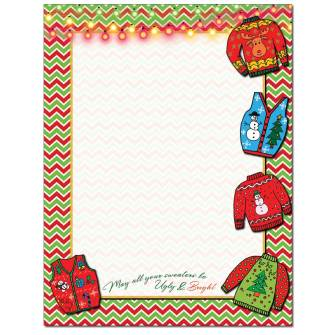 Ugly Sweater Letterhead - 25 pack