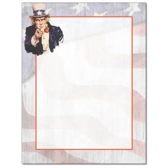 Uncle Sam Letterhead - 25 pack