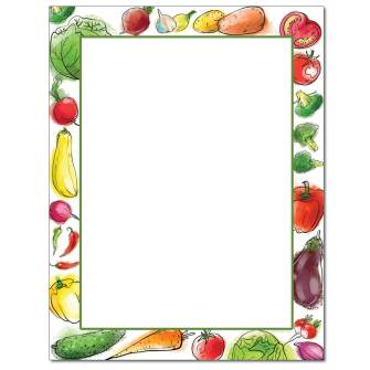 Veggies Letterhead - 25 pack