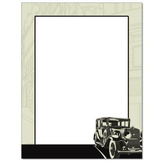 Vintage Car Letterhead - 25 pack