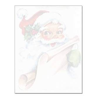 Vintage Santa Post Card 48pk