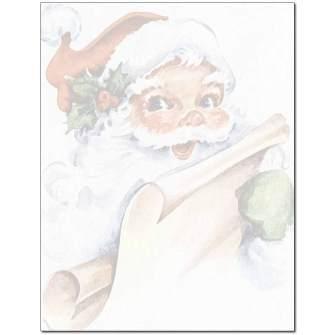 Vintage Santa Letterhead - 25 pack