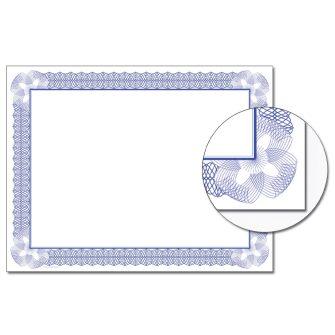 Vivid Blue Certificate - 100 Pack