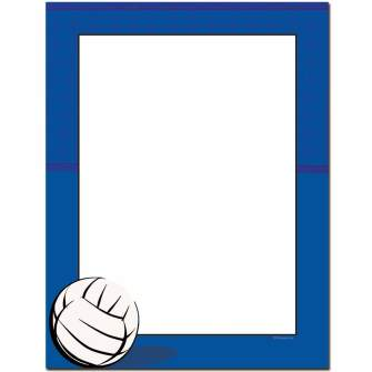 Volleyball Letterhead - 100 pack