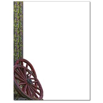 Wagon Wheel Letterhead - 25 pack