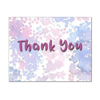 Watercolor Drops Thank You Note Card