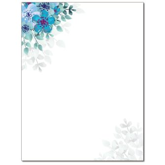Watercolor Floral Letterhead - 25 pack