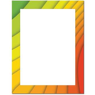 Wavy Colors Letterhead - 25 pack
