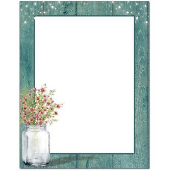 Wax Flowers Letterhead - 25 pack