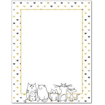 We Love Cats Letterhead - 25 pack