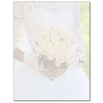 Wedding Bouquet Letterhead - 25 pack