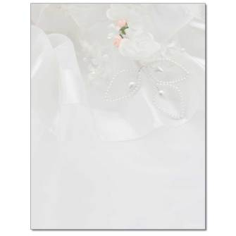 Wedding Dress Letterhead - 100 pack