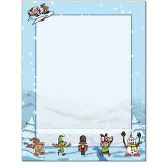 Winter Buddies Letterhead - 100 pack