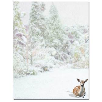 Winter Doe Letterhead - 25 pack