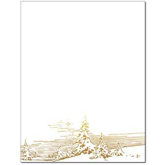 Winter Landscape Letterhead - 25 pack