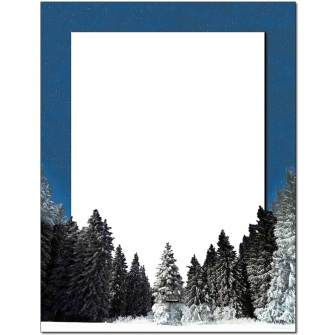 Winter Night Letterhead - 100 pack