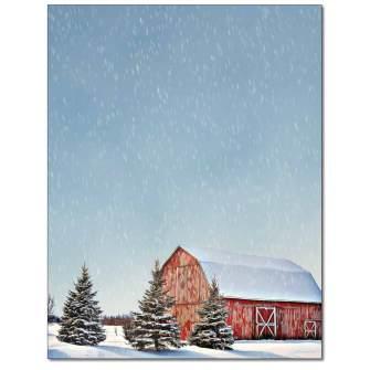 Winter Scene Letterhead - 25 pack