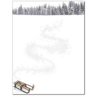 Winter Sled Letterhead - 25 pack