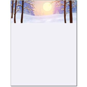 Winter Sunrise Letterhead - 100 pack