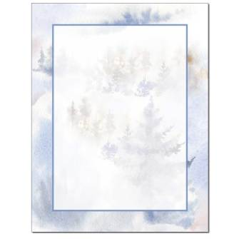 Wintery Trees Letterhead - 100 pack