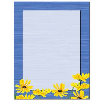 Yellow Daisies Letterhead - 100 pack