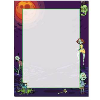 Zombies Letterhead - 25 pack