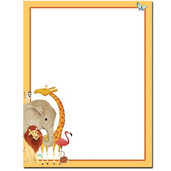 Zoo Animals Letterhead