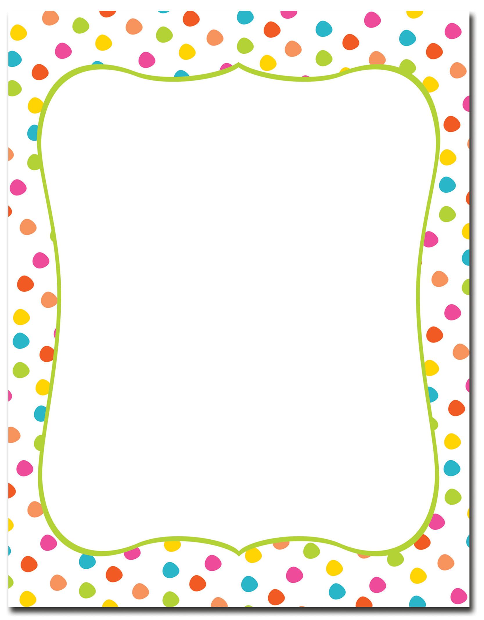 Circus Dots Letterhead