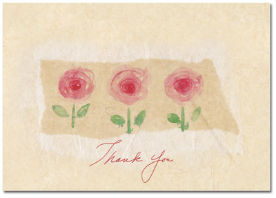 La Jardin Rose Thank You Note Card