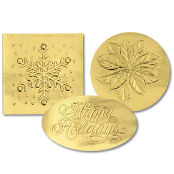 Gold Holiday Variety Seals