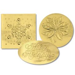 Gold Holiday Variety Seals