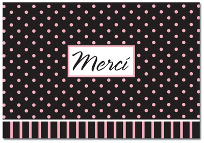 Ooh La La Thank You Note Card