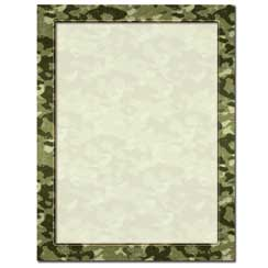 Camouflage Letterhead Stationery