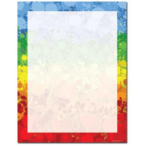Paint-Drops-Letterhead-Paper