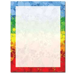 Paint Drops Letterhead - 100 pack