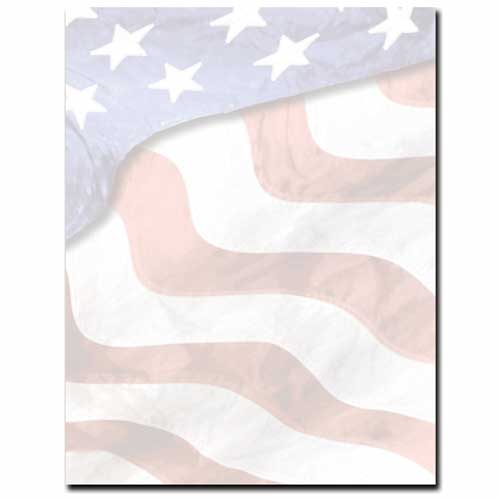 Patriotic Flag Stationery