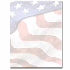 Grand Old Flag Letterhead - 100 pack