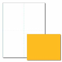 Blank Bright Post Card, 65lb Cover