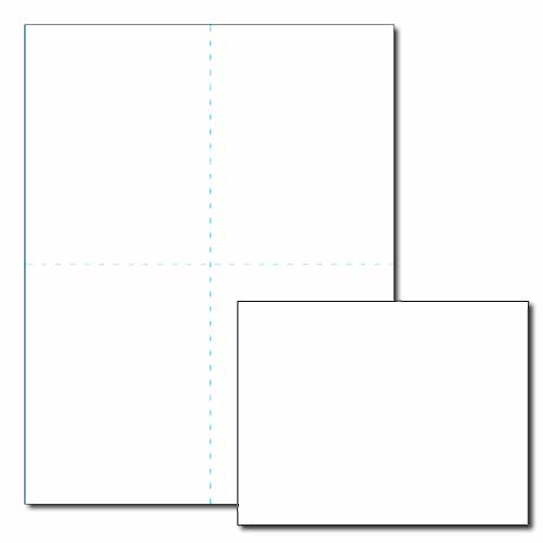 Blank Post Card, 80lb Cover, White or Ivory