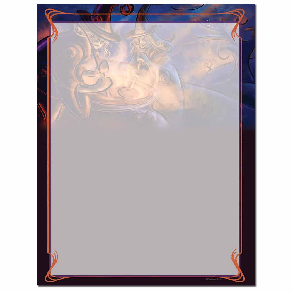 Cauldron Bubble Letterhead - 100 pack