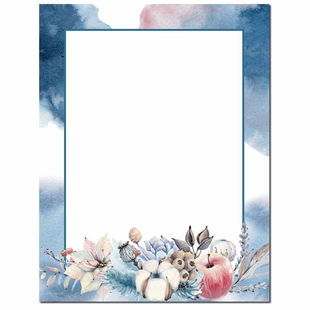 Winter's Blush Letterhead - 25 pack